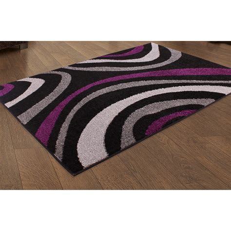 B And M Rugs by B Amp M Plum Swirl Design Rug 150 X 210cm Patterned Rug
