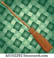 witch   broken broom drawing  fotosearch