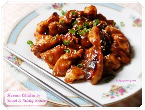 soy garlic korean chicken  sweet  sticky sauce