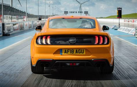 Suzuki Nex Ii 4k Wallpapers by Wallpaper Orange Ford Rear View Fastback 2018 Mustang