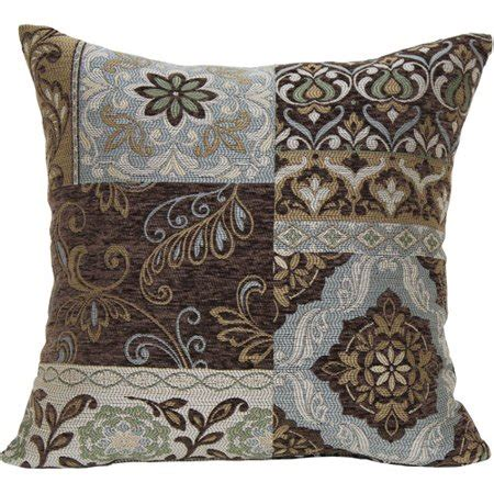 Blue Brown Throw Pillows by Better Homes And Gardens Blue And Brown Floral Decorative