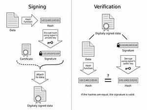 File Digital Signature Diagram Svg