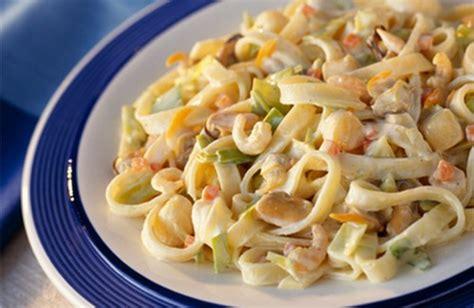 recette tagliatelles aux fruits de mer faciles 750g