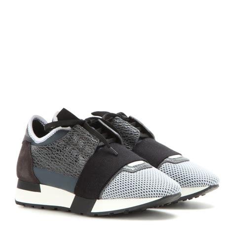 balenciaga ash grey balenciaga runner race sneakers in gray lyst