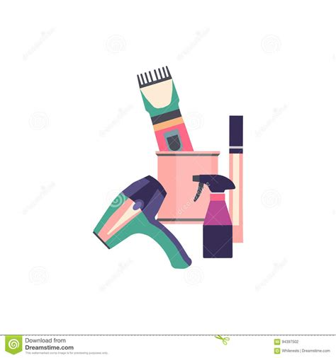 barber tools haircut icons set vector illustration cartoondealer
