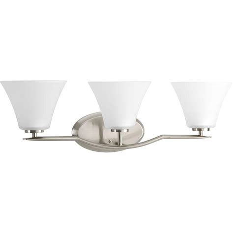 progress lighting bravo collection 3 light brushed nickel