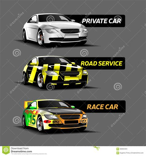 Types Of Cars Vector Illustration Stock Illustration