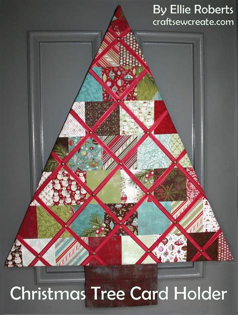 craft sew create christmas tree card holder an anniversary