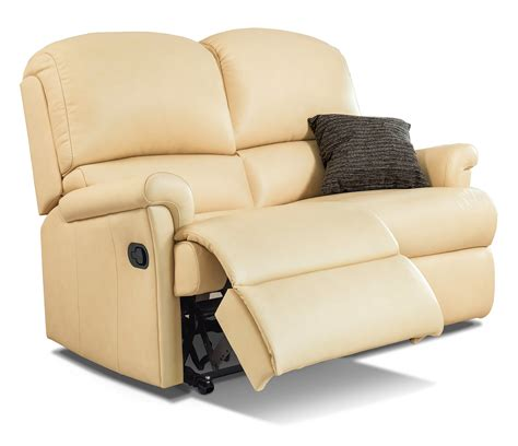 Reclining Settees by Nevada Standard Leather Reclining 2 Seater Settee