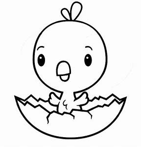 Cute Chick Hatching Coloring Pages | Best Place to Color