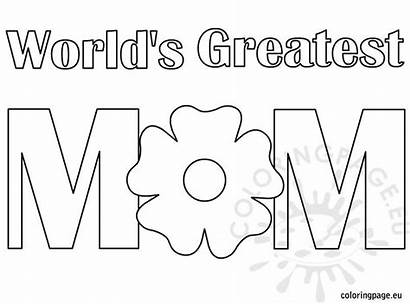 Coloring Greatest Mom