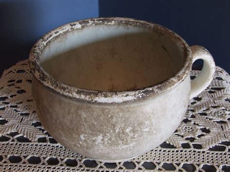 di notte in vaso antico vaso da notte in ceramica di grottaglie anno 1951