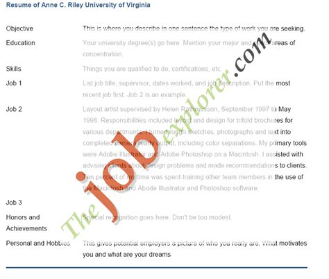 sle resume templates