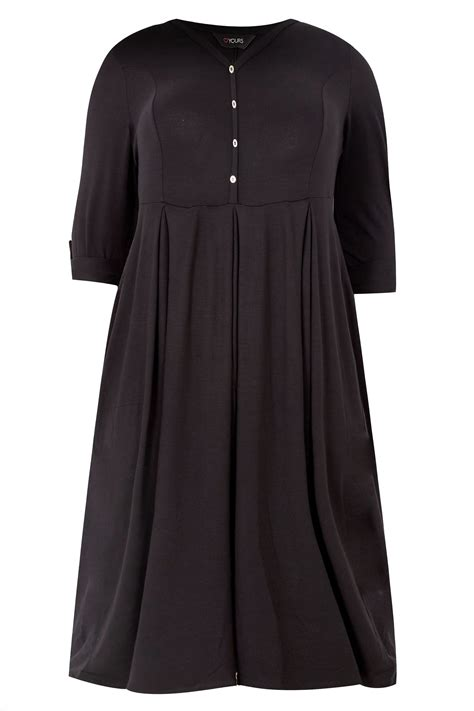c add to container with templates black button skater dress plus size 16 to 36