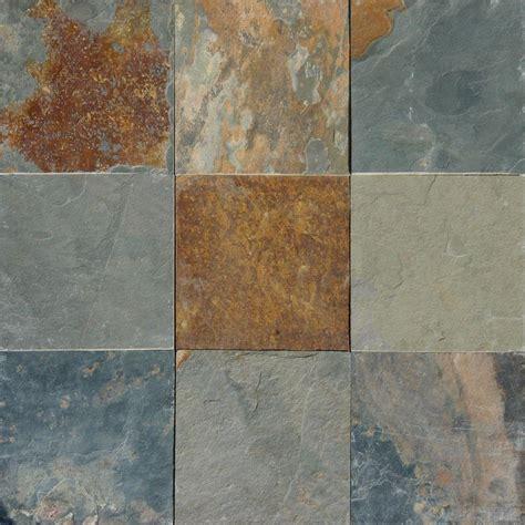 msi multi color      gauged slate floor