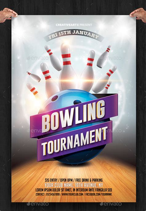 bowling flyer templates psd ai eps vector format