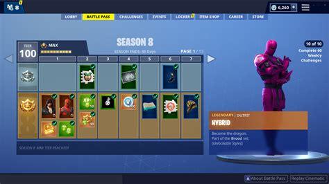 fortnite season   battle pass tiers  rewards