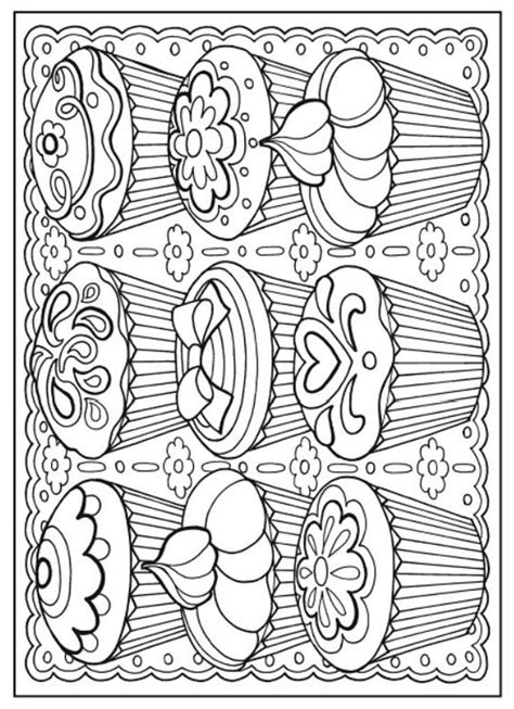 creative haven designer desserts coloring book dover publications coloring pages