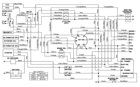 Cub Cadet 7264 Wiring Diagram by My Tractor Works But When I Turn On The Mower It