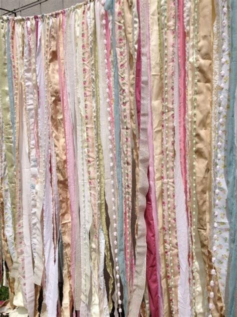 shabby chic curtain material shabby chic boho rustic fabric garland backdrop ribbon fabric wall nursery gypsy festival