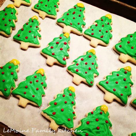 christmas tree sugar cookies lemoine family kitchen