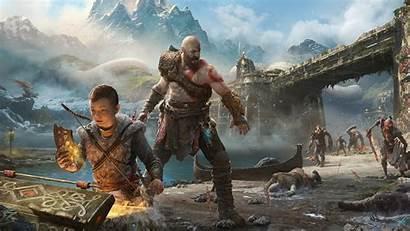 God War Kratos Atreus Wallpapers