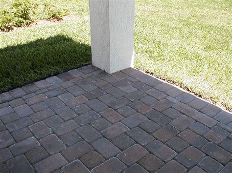 paver patio color block type outdoor space