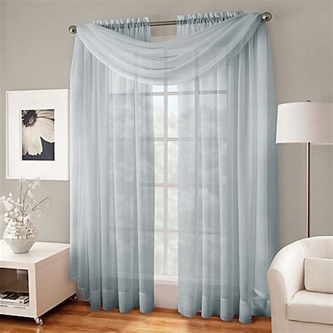 sheer curtains bed bath and beyond crushed voile platinum collection sheer rod pocket window