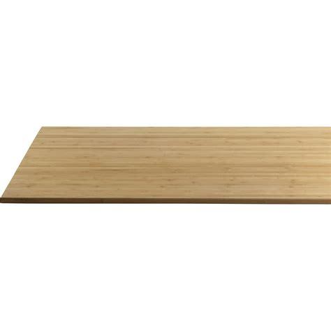 plateau bois pour bureau plateau de table bambou l 160 x l 80 cm x ep 22 mm