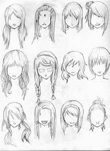Anime Girl Hairstyles Drawings Hairstyles Ideas