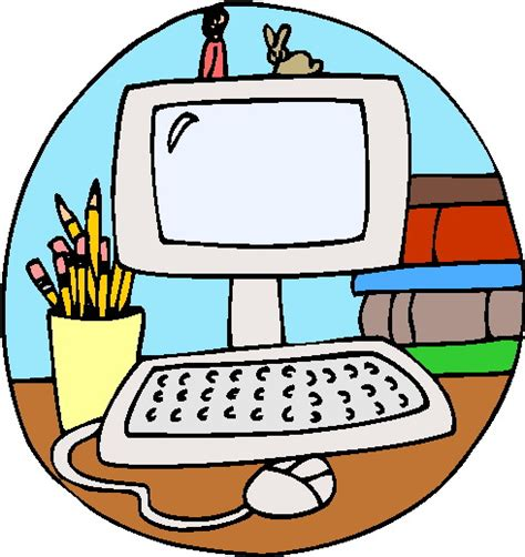 School Computer Clip Art