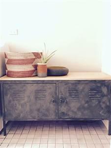Ikea Ps Metallschrank : ikea ps cabinet hack vintage style locker cabinet dulux charcoal chintz suede tuscan effect ~ Yasmunasinghe.com Haus und Dekorationen