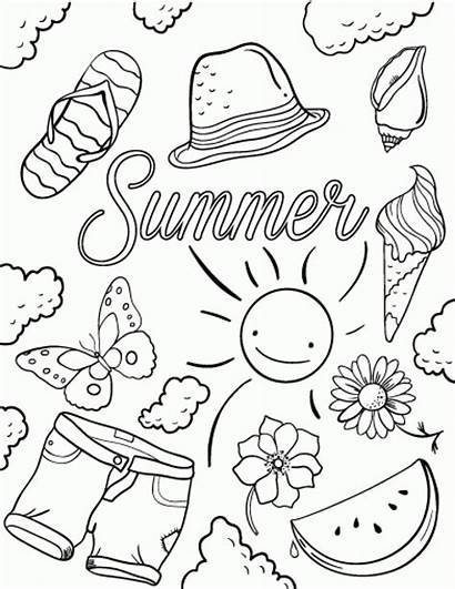 Coloring Summer Pages Printable Essentials