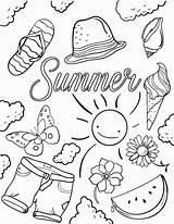 Coloring Summer Pages Printable Essentials sketch template