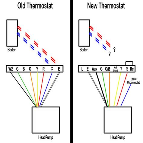 Wiring New Thermostat For Heat Pump Boiler Hvac