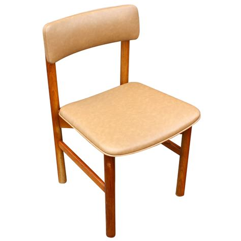 8 wood frame jens risom style side chairs restored