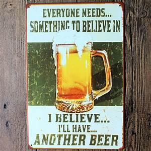 Plaque Vintage Metal : vintage metal sign tin plaque tavern shop bar pub home wall decor retro poster ebay ~ Teatrodelosmanantiales.com Idées de Décoration