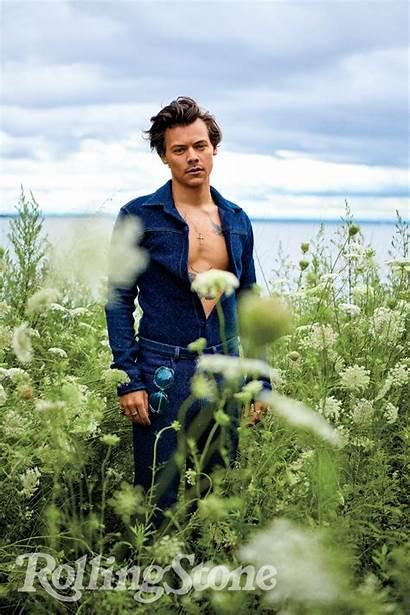 Harry Rolling Stone Shoot Album Covers Suit