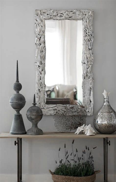 dove gray home decor grey entry hall table  mirror