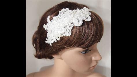diy handmade shabby chic lace flower wedding bridal