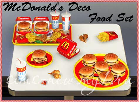 cuisine sims 3 helen sims ts3 mcdonald 39 s deco food set