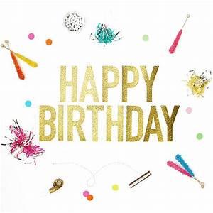 Happy Birthday Glitter Banner – Alexis Mattox Design