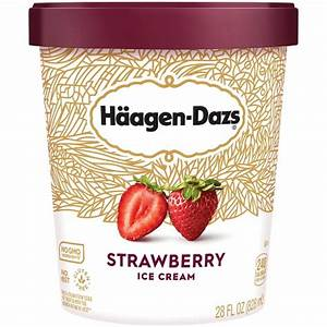 Haagen-Dazs Strawberry Ice Cream 28OZ : Target