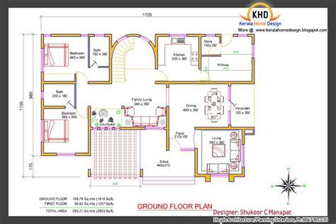 beautiful  sq ft  bedroom villa elevation  plan