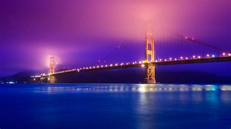 san francisco california cityscape night golden gate