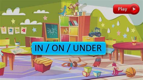 In / on / under game - презентация онлайн