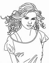 Coloring Swift Singer Taylor Country Pages Female Drawing Singers Printable Getdrawings Getcolorings sketch template