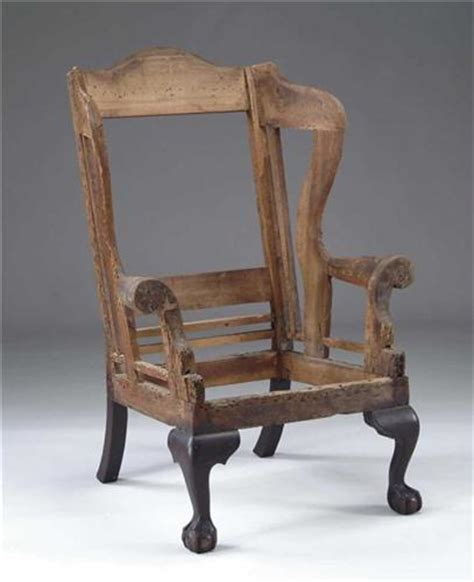 chippendale and claw foot period wing chair