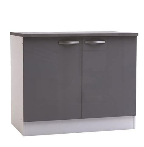 meuble de bar cuisine meuble bas de cuisine contemporain 2 portes blanc mat gris