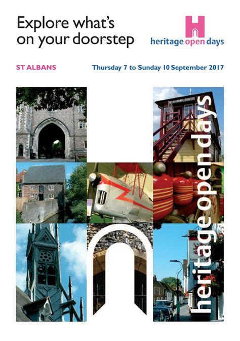 Heritage Open Days brochure 2017 by Claire Wainwright Issuu